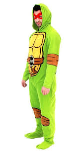 foot clan halloween costume turtles character union suit with masks