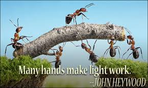 Many Hands Make Light Work Quote Teamwork Quotes Ii