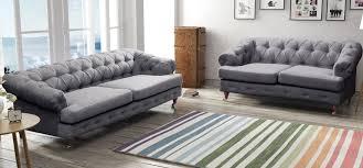 Linen Chesterfield Sofa by Corner Chesterfield Sofa Grey Memsaheb Net