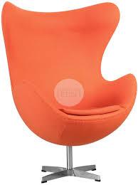 replica arne jacobsen egg chair orange furniture chairs