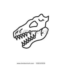 skeleton bones dinosaur head stock vector 538322659 shutterstock