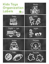 organize with printable toy labels organization pinterest