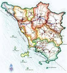 Driving Maps Pysical Map Tuscany U2022 Mapsof Net