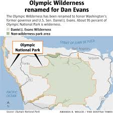 Olympic National Park Map A Fitting Tribute U0027 Olympic Wilderness Renamed For Longtime