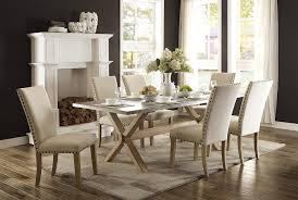 Dining Room Sets On Sale Amazon Com Homelegance Luella 7 Piece Dining Set 84 Inch Zinc Top