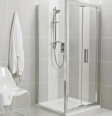 Infold Shower Door Ideal Standard Enclosure Synergy Cover Profile Bright Silver Lv803eo
