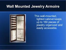 Jewelry Cabinets Wall Mounted by Wall Mounted Jewelry Armoire With Mirror