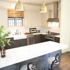 Kitchen Cabinets With Knobs Steel Gray Cabinets With Bronze Hardware Design Ideas