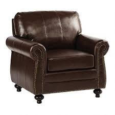 Leather Armchair With Ottoman Bonded Leather Library Chair With Ottoman Christmas Tree Shops