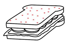 drawing cartoon sandwich
