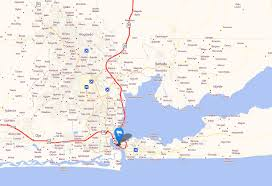 lagos city map lagos map and lagos satellite image
