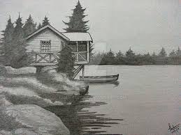 pictures simple scenery drawing pencil drawing art gallery