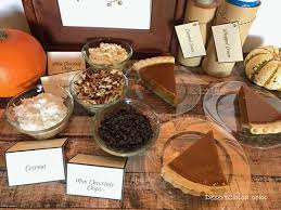toppings bar pumpkin pie toppings bar desert chica