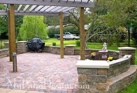 Paver Wall Designs Nightvaleco - Patio wall design