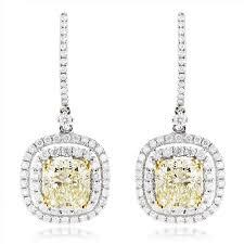 diamond drop earrings designer diamond drop earrings 6 5ct 18k gold yellow diamonds