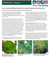 native plant list smart water gardening to prevent the spread of aquatic invasive