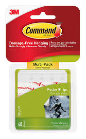 amazon com command poster hanging strips value pack small white