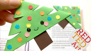 easy christmas tree bookmark corner paper crafts diy easy