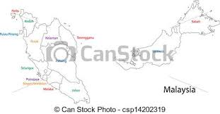 map malaysia vector outline malaysia map malaysia map with provinces vector clip