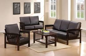 Muebles De Sala De Madera Negro Con Cojines Muebles Pinterest - Wooden sofa designs for drawing room