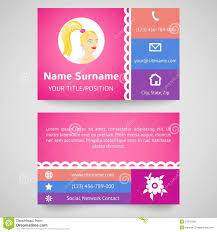 bright pretty business card set template royalty free stock