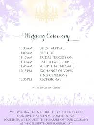 wedding ceremony timeline church wedding ceremony program weddings