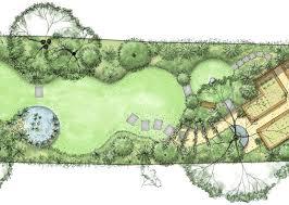 layout garden plan long narrow garden plan with a series of circular lawns food