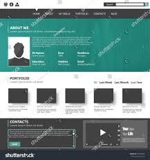 personal portfolio template modern flat website template personal portfolio stock vector