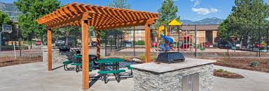 cobblestone ridge apartments in colorado springs outdoor grilling area