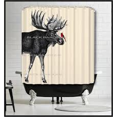 Animal Shower Curtains Moose Cardinal Shower Curtain Moose Animal Shower Curtains