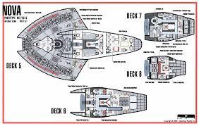 ship floor plans technical schematic of nova class starship star trek nova