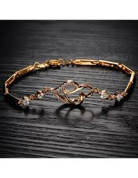 love bracelet gold plated images Charming lady heart love bracelet bangles for women gold plated jpg