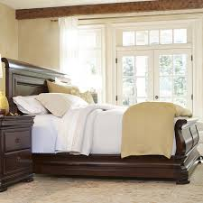 King Sleigh Bed King Sleigh Bed With Paneled Headboard By Universal Wolf And