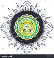 card circular floral ornament pattern stock vector 445154923