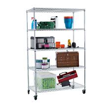 Home Depot Decorative Shelves Trinity Ecostorage 48 In X 24 In Nsf Chrome Color 5 Tier With