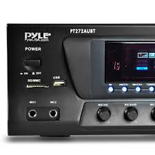 home theater receiver with bluetooth pyle pt272aubt hybrid amplifier receiver home theater stereo