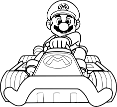 Kart A Imprim On Coloriage Mario Bros Luigi Coloriages A Imprimer