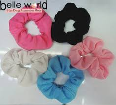 ponytail holder elastic scrunchie ponytail holder grid cloth hair band rope buy