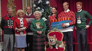 royal family sports sweaters in madame tussauds