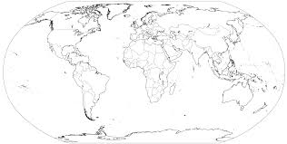 outline of world map printable blank world map template for students and of new
