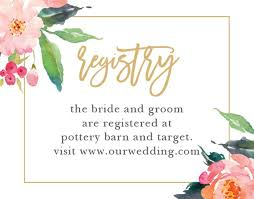 wedding registry customizable wedding registry cards by basic invite