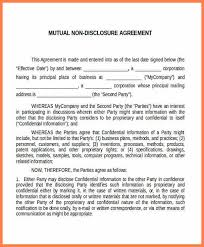 6 mutual confidentiality agreement template purchase agreement