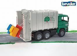 amazon com bruder toys man garbage truck rear loading green toys