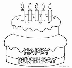 free printable birthday cake coloring pages for kids cool2bkids
