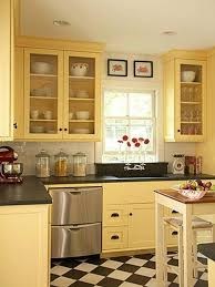 Yellow Kitchen Walls by Kitchen Wall Colouring Combination Ideas Including Cabinet And