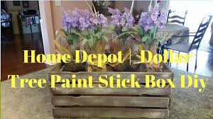 Upholstery Stapler Home Depot Home Depot Dollar Tree Paint Stick Box Diy Youtube