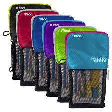 pencil pouch five stand n store pencil pouch assorted colors meijer