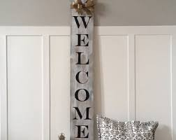 vertical welcome sign etsy