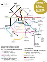 Banglore Metro Route Map by Metro Phase Iv Planned To Bring Outer Delhi Closer Gets Aap Govt