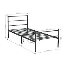 aingoo singel metal bed frame in black amazon co uk kitchen u0026 home